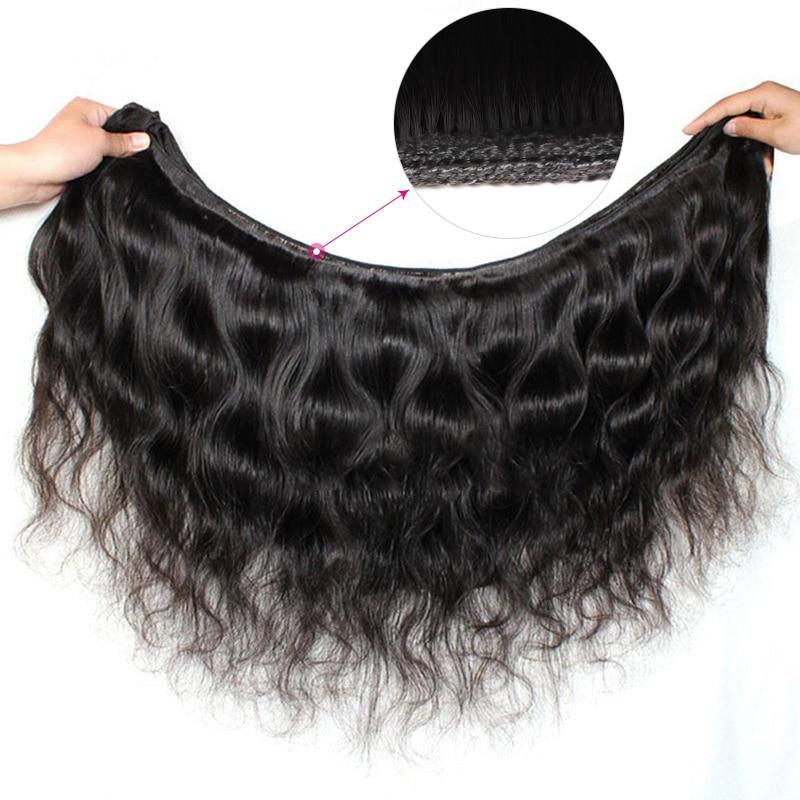 4 Bundles Brazilian Body Wave Bundles Deal Meetu Braziian Human Hair - Skönhet och hälsa - Foto 4