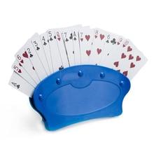 Игральные карты Держатели Ленивый покер базовой игры организует руки для легкого играть Рождество День рождения покер сиденье игральных карт Стенд