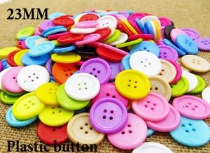 "Image 1 - 1000 יחידות 23 מ""מ מעורב צבעים צבוע פלסטיק כפתורי מעיל מגפי תפירת בגדי אביזרי P 092A"