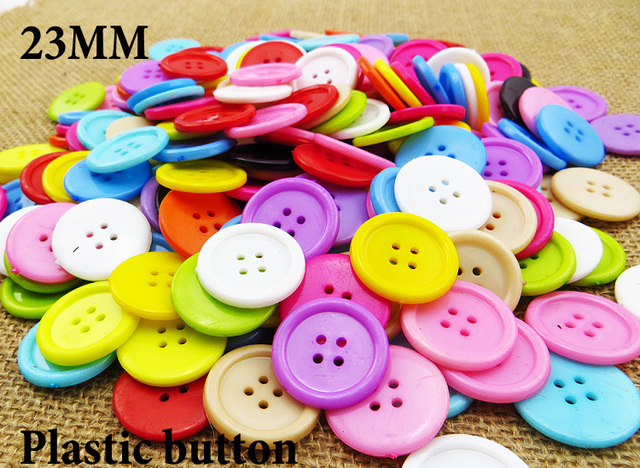 """1000 יחידות 23 מ""""מ מעורב צבעים צבוע פלסטיק כפתורי מעיל מגפי תפירת בגדי אביזרי P 092A"""