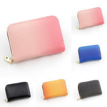 Creative Card Set Coin Purse Credit Holder Small Wallet Mini Gradient Color Money Bag Moda Mujer 2019 New Arrivals #YL10