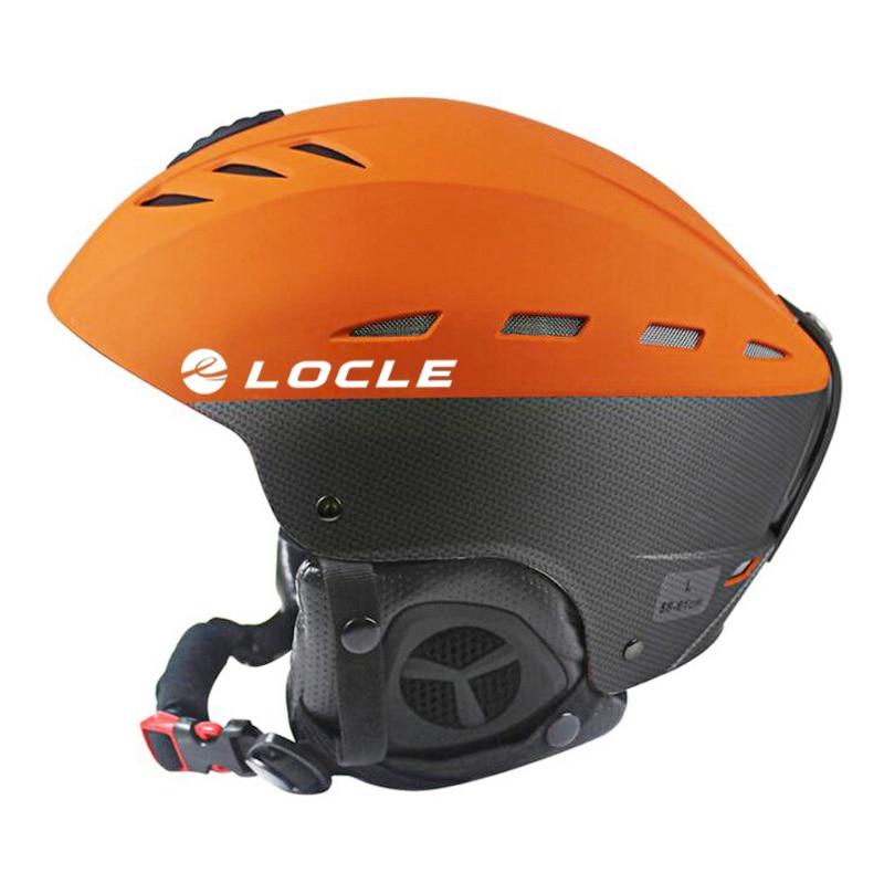 Winter Snow Sports Ski Helmet Skateboard Skiing Snowboard Helmet Orange