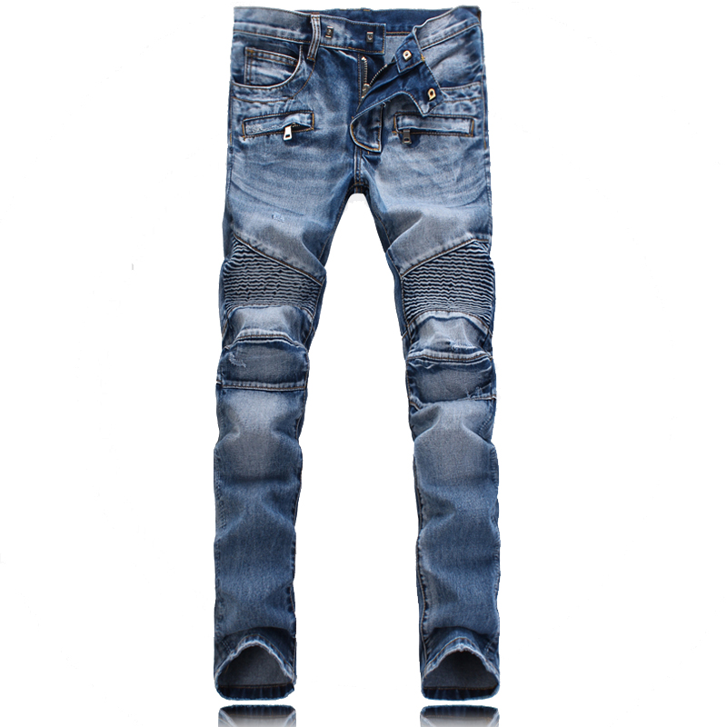 represent clothing designer pants slp destroyed mens slim denim straight skinny biker jeans men SLIM-FIT ripped jeans 1376_7_8