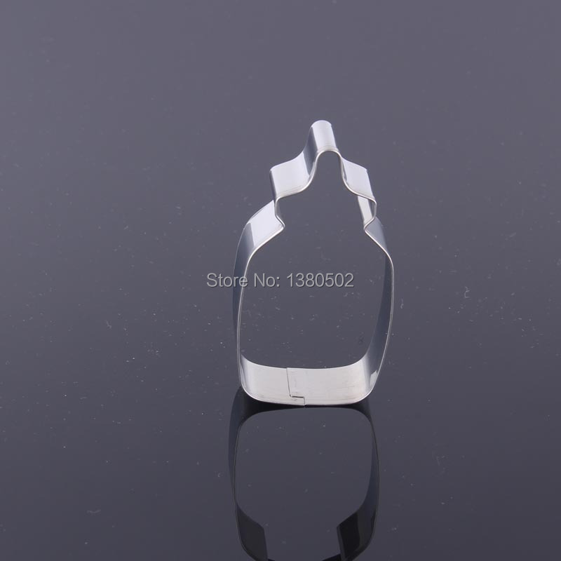 5PCS/LOT Baby Feeding Bottle 430 Stainless Steel Cake mold Biscuit Baking Moulds Cookie Cutter