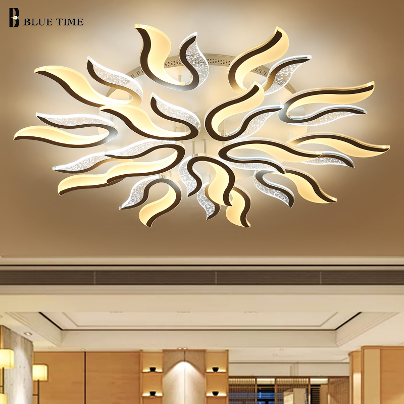 White fire Acrylic lighting ceiling light for living room bedroom AC85-260V with switch control led ceiling lamp mountingLights