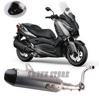 Free Shipping Akrapovic Scooter Modified Carbon Fiber Muffler Escape Exhaust Pipe For Yamaha XMAX250 XMAX300 XMAX