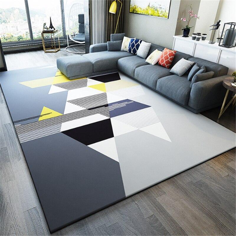 AOVOLL 2019 européen géométrique tapis dans le salon chambre antidérapant épais imprimé tapis tapis de sol chambre tapis
