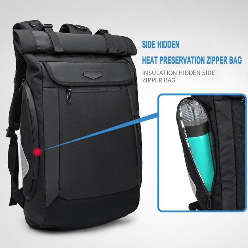 2019 OZUKO 新しい多機能男性バックパック USB 充電ノートパソコンのバックパックティーンエイジャーのファッション通学防水旅行 Mochila  グループ上の スーツケース & バッグ からの バックパック の中 2