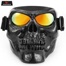 Vintage Face Helmet Mask Jet Ski Detachable Eyewear Scooter Helmets Goggle Mask Skate Motocross Goggles Motorcycle Glasses ATV цена 2017