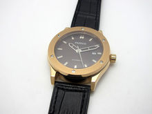 43 мм Parnis Кофе Циферблат Сапфировое стекло Золотой Корпус Автоматические Часы