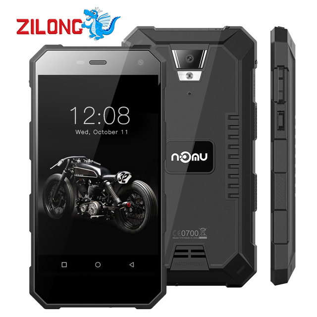 Nomu S10 5.0 inch Android 6.0 IP68 Waterproof Smartphone 720*1280 MTK6737T Quad Core 2GB RAM 16GB ROM 5000mAh 4G Mobile Phone