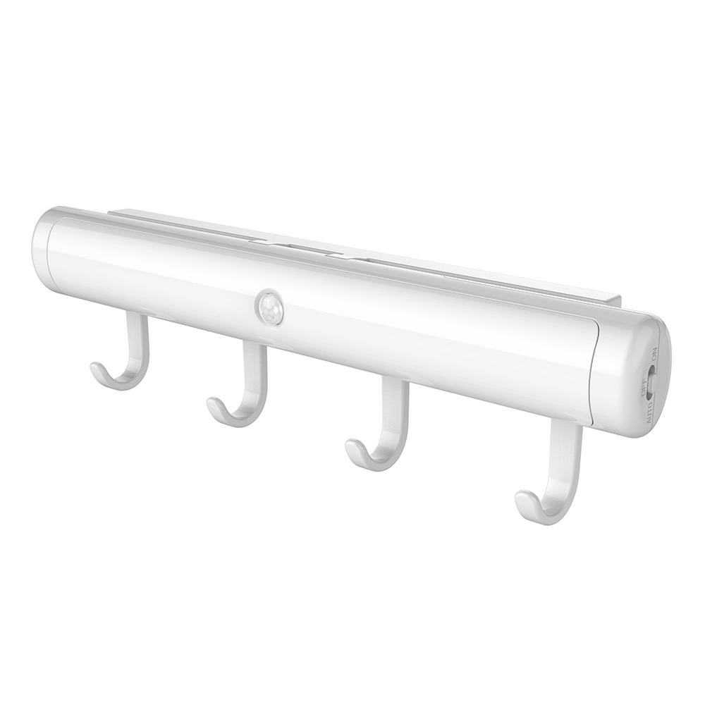 LED Light Bar IR Motion Sensor Wall Lamp With Hooks Built