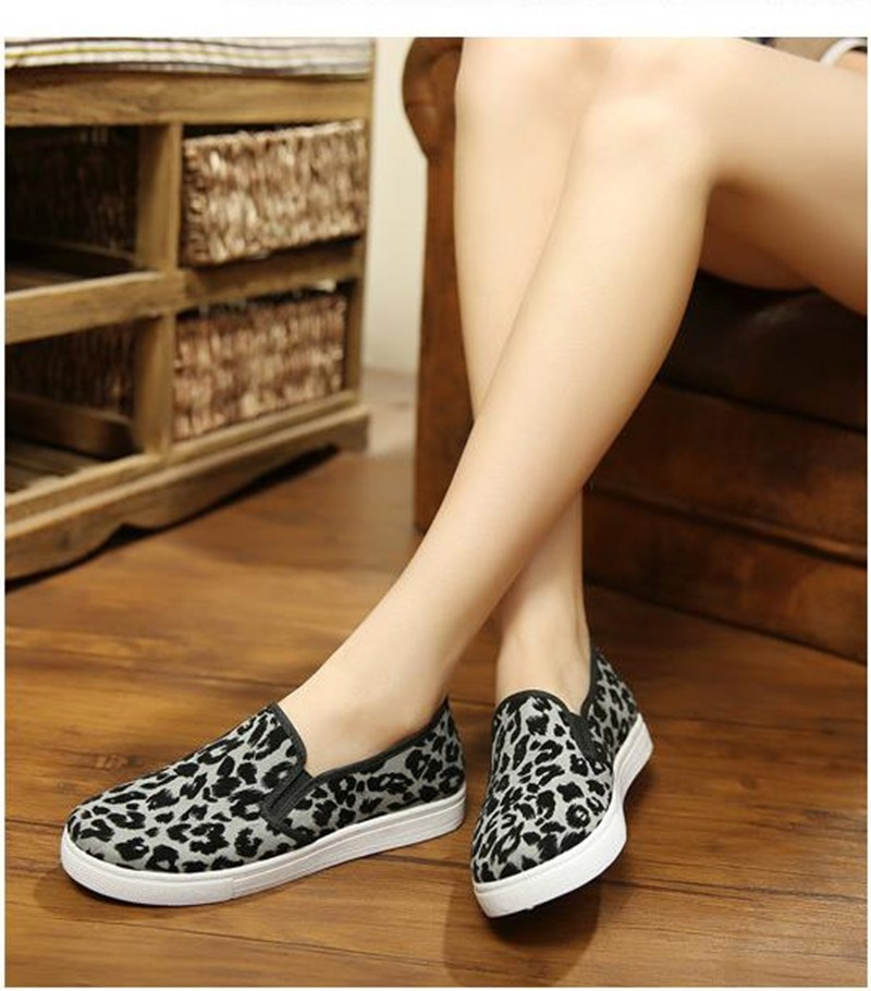 2016 Spring and Autumn Women\'s Casual Shoes Leopard Print  3 Colors Loafer Women Flats Shoes Free shipping HSE15 (11)