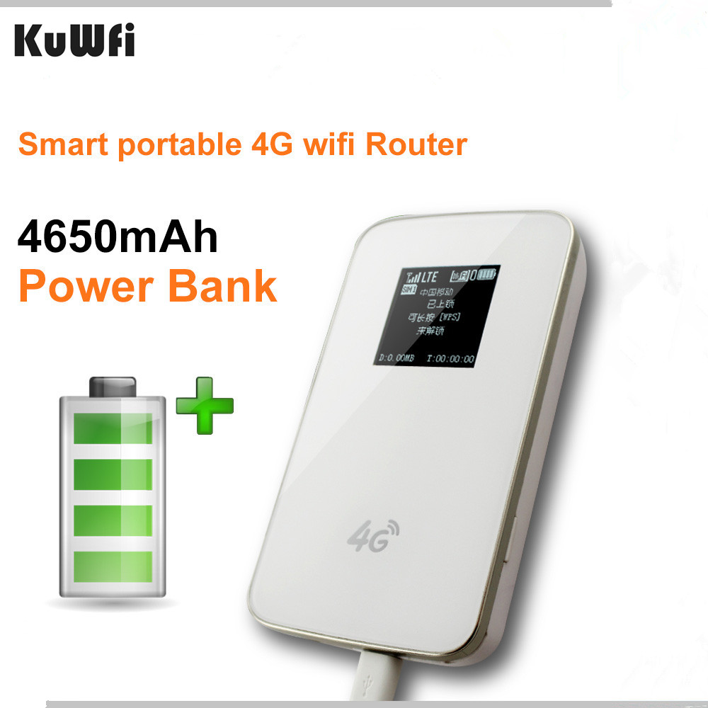 Router mobile et modems - Aliexpress Com Buy Unlocked 4g Wireless Wifi Router Lte Pocket Wifi Modem 4g Wifi Router With Sim Card Slot Hotspot 4620mah Battery Power Bank 1set From