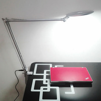 LED beauty eye beauty lashes office study 3 brightness folding desk lamp 8 times magnifier lamp bedroom long arm clip table lamp