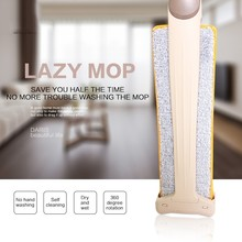Microfiber Dust Sided Mop 360 Lightweight Rotating Spin Telescoping Household Floor Cleaning Tools Water Absorption