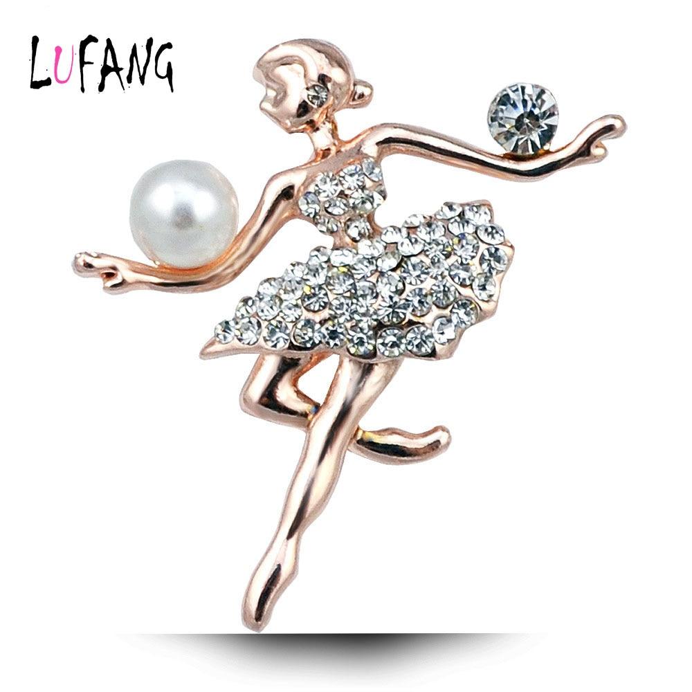 Lufang Brand Fashion Jewelry Beautiful Rhinestones Brooch