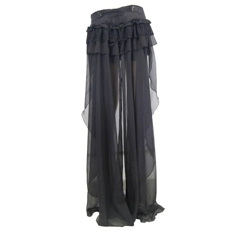 Diabo moda gótico preto sexy shorts com renda longa steampunk verão feminino legal shorts calças personalizadas - 6