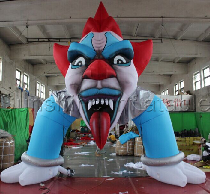 Giant 8' Inflatable Free Candy Scary Clown Lawn Decoration |Halloween Clown Inflatables