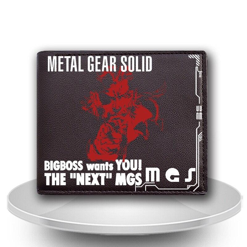 PU Leather Short Wallet Game Metal Gear Solid New Fashion Wolf Purse Cards/Photo Holder Billfold Men/women Wallet Cool Moneybag