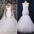 Vestido De Noiva Hot Sale 2017 Elegant Sweetheart Wedding Dress Spaghetti Straps Sleeveless Lace Appliques Bridal Backless Gown