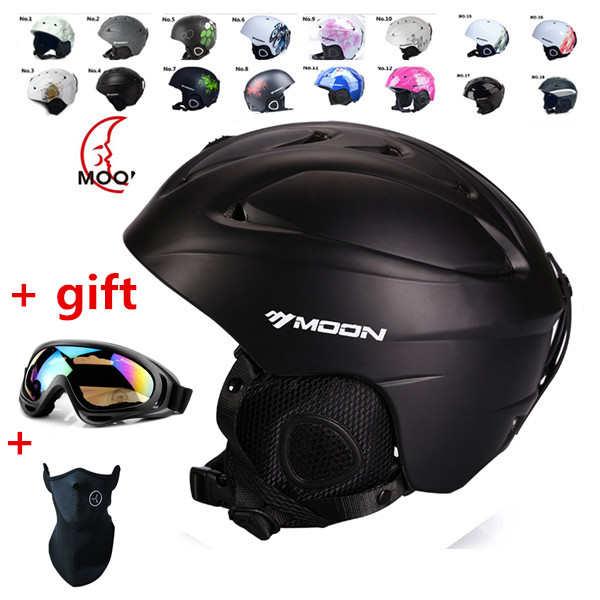 Llegar en 18-39 días! Esquí casco ultraligero y integralmente moldeado casco de snowboard profesional unisex monopatín casco