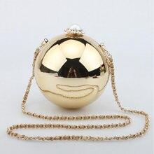 2016 Petite Forme De Boule Perle Sac de Soirée Acrylique Globes Sac À Main Femmes Sac D'épaule de Partie Sacs À Main Avec Célèbre Marque Embrayages Li271