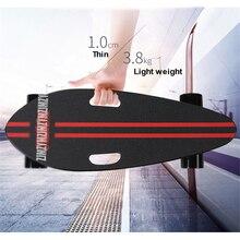 Ультра-тонкий 10 мм 3,8 кг мини скейтборд 4 колеса Рыба скейтборд самокат Максимальная скорость 30 км/ч уличная доска для детей и взрослых