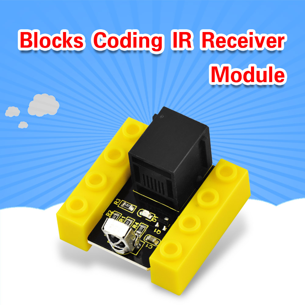 Kidsbits Blocks Coding IR Receiver Module For Arduino STEAM EDU (Black And Eco Friendly)