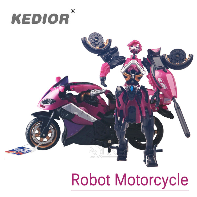Motorcycle Model Transformation Robot Toys Anime Plastic Toys Deformation Robot Action Figure Toys Without Original Packaging
