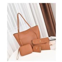 Women Soft Pu Leather Handbag High Quality Lady Fashion Shoulder Bag Luxury Brand Tassel Bucket Casual Tote Female 3 Set Bags