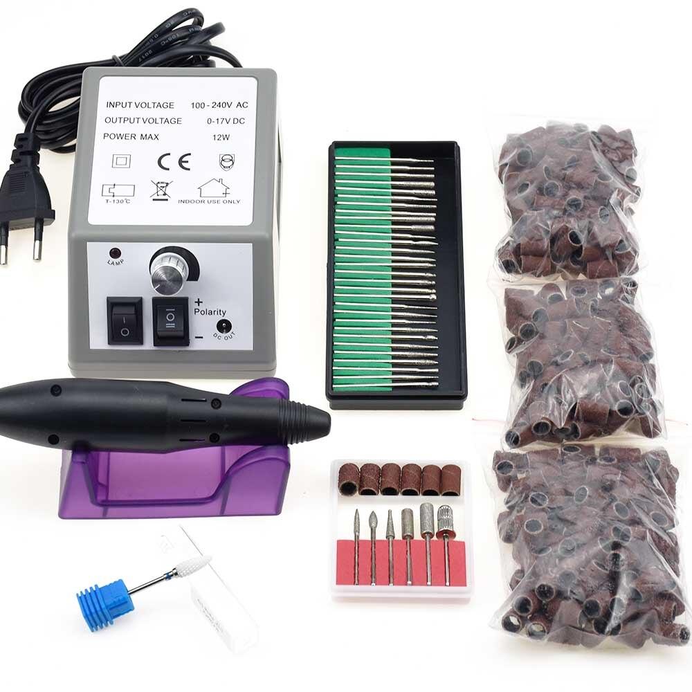 цена на 20000RPM Electric Nail Drill Machine Electric Manicure Machine Drills Accessory Pedicure File kit Nail Drill Bit Nail tools