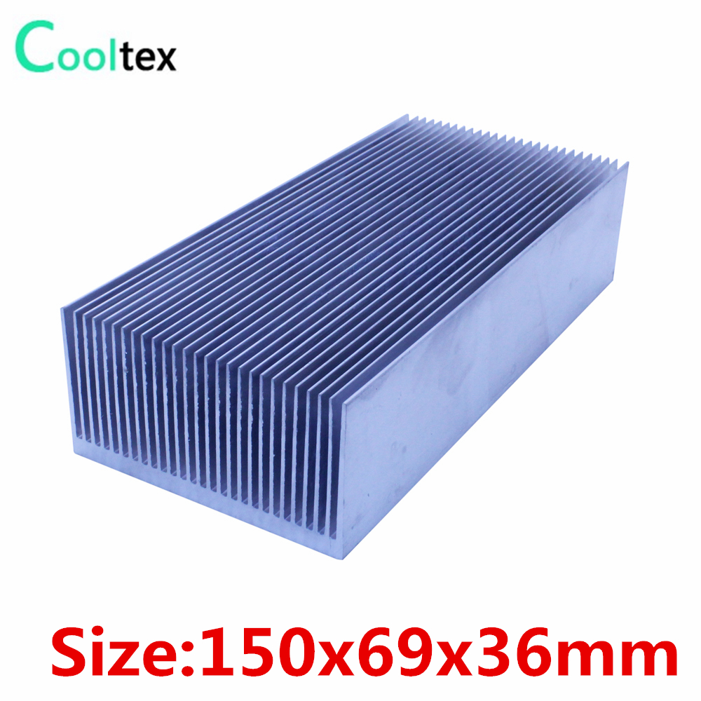 (4pcs/lot) High power 150x69x36mm radiator Aluminum heatsink Extruded  heat sink for 20-100W LED heat dissipation 1 pcs aluminum radiator heat sink heatsink 60mm x 60mm x 10mm black