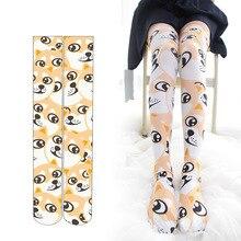 Funny Doge Kabosu Lolita Stockings Cute Women Girls Kawaii Velvet Long Thigh High Stocking Anime Cosplay Over Knee Socks