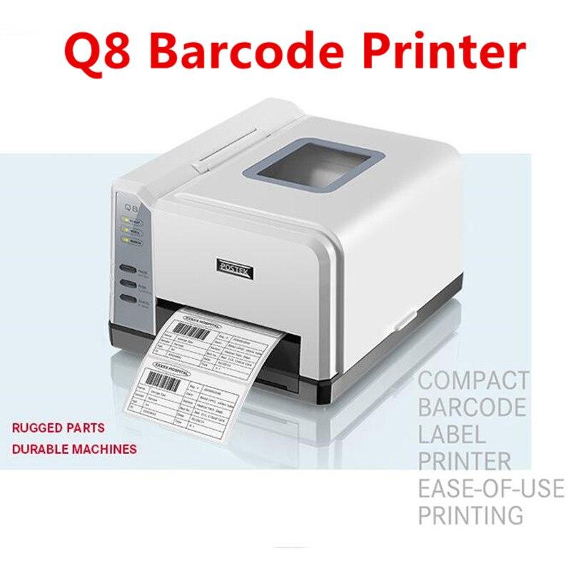 Postek Q8/200 imprimante de codes à barres thermique/thermique transfert imprimante de codes à barres étiquette de bijoux/étiquette de produit/imprimante d'étiquettes de logistique