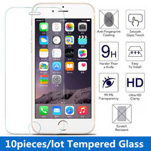10pcs/lot 9H 0.3 mm 2.5d Premium Tempered Glass Screen Protector for iPhone 7 4s 5 5s 5c 6 6 6/6splus Toughened protective film