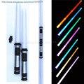 2 pçs/lote Darth Vader de Star Wars Sabre De Luz Espada Piscando FX sabres de luz Luz com A Luta de som Yoda verde figura de ação