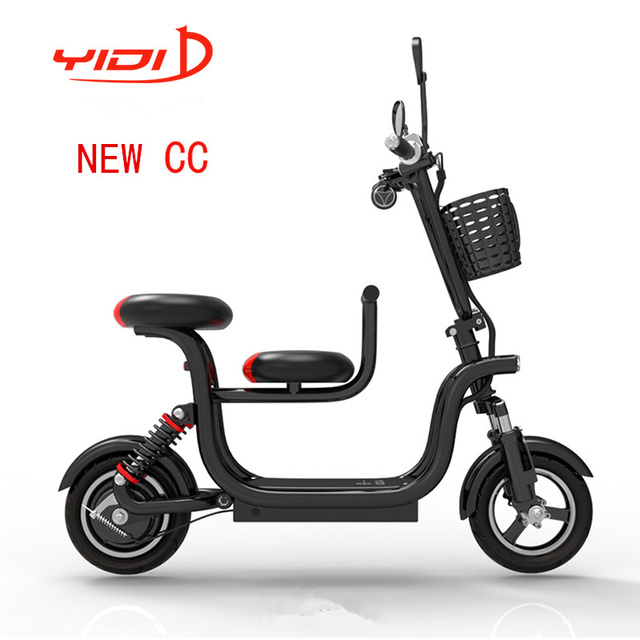 double seat electric scooter fold patinete electrico trottinette electrique adulte city kick. Black Bedroom Furniture Sets. Home Design Ideas