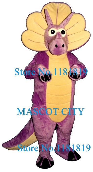 Purple triceratops Mascot Costume Adult Dinosaur Dragon Theme Cartoon Anime Cosplay Costumes Mascotte Fancy Dress Kits Suit
