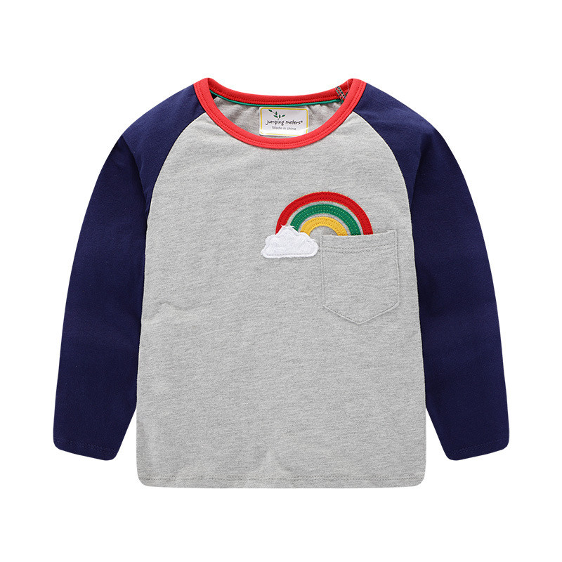 Jumping meters Top Brand Boys T shirts Baby Clothes Cotton Long Sleeve Tees Cartoon New Cute Boys Girls T shirts Autumn Clothing 12