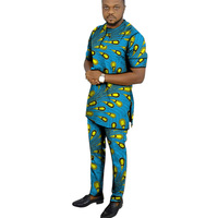 Man Sets dashiki men african mens suits tops shirts pant 2 pieces set S to 6XL