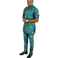 Man Sets dashiki men african mens suits tops shirts pant 2 pieces set S to 6XL