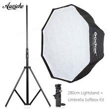 GODOX 120 cm Speedlight Octagon do Flash Guarda-chuva softbox para Speedlight Flash de Estúdio do flash Hot shoe suporte