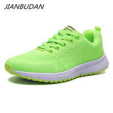 JIANBUDAN/ Womens autumn casual fitness shoes Breathable mesh outdoor crawling Comfortable sneakers 35-42 size