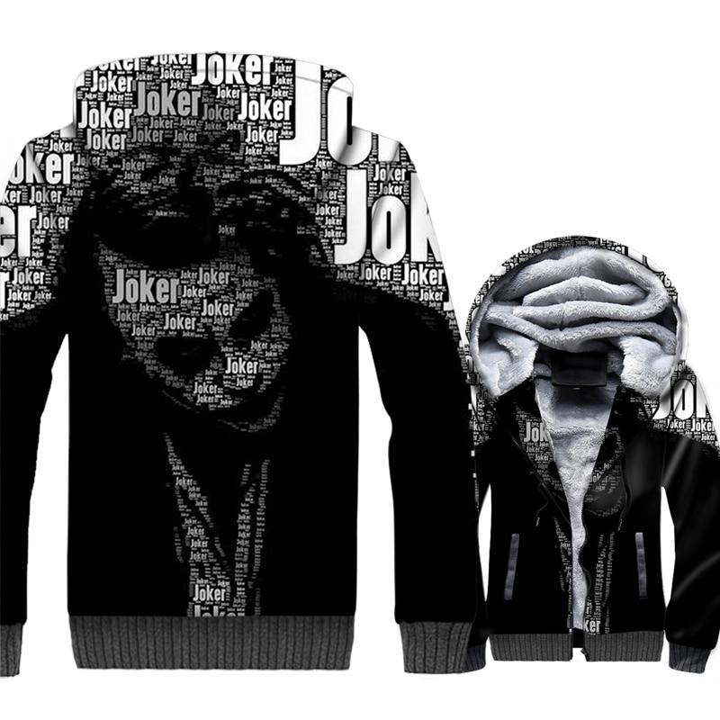 Новое поступление Для мужчин кофты 2018 осень-зима куртки 3D узор Бэтмен Темный рыцарь Harajuku толстовки для Для мужчин джокер с капюшоном