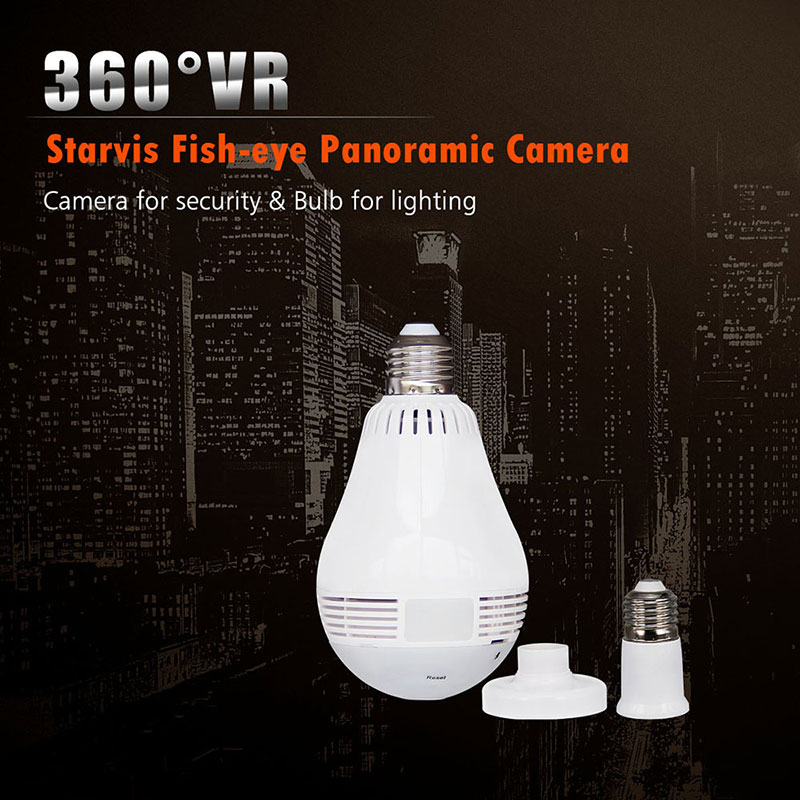 2.0MP Lampada Camera 360 wifi Camera Fisheye Bulb Wireless IP CCTV 3D VR Camera Audio Panoramic Camera Smart Home Security