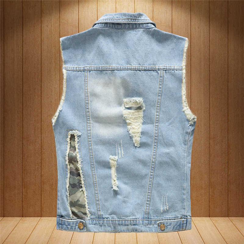 2019 новый весенне-осенний Винтажный Классический мужской джинсовый жилет 80 s высокого качества, модный топ, пальто, джинсы, ковбойская одежда