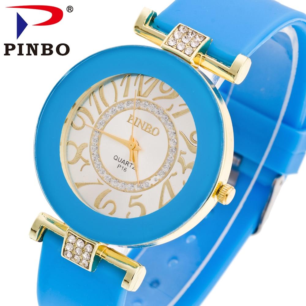 PINBO Reloj Mujer Top Brand Luxury Quartz Watch Ladies Casual Silicone Women Watches Fashion Clock Relogio Feminino Montre Femme