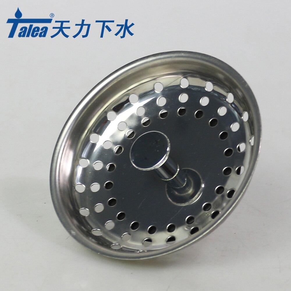 Talea 8cm Stainless Steel Kitchen Sink Strainer Sewer Filter Mesh Stopper Waste Plug Prevent Clogging Kitchen Appliances DIY