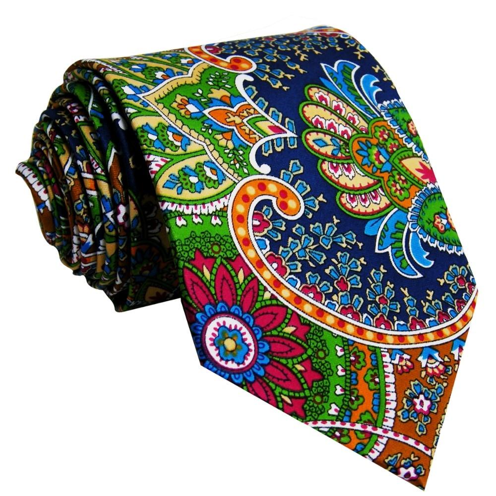 u31 Paisley Multicolor Red Green Yellow Blue Mens Ties Necktie 100% Silk Printing Handmade Brand New